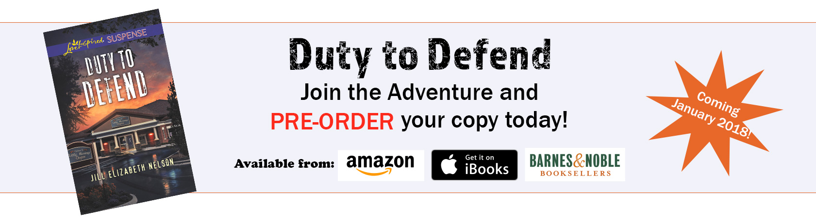 Read about Jill Elizabeth Nelson's Newest Book Duty To Defend Today!