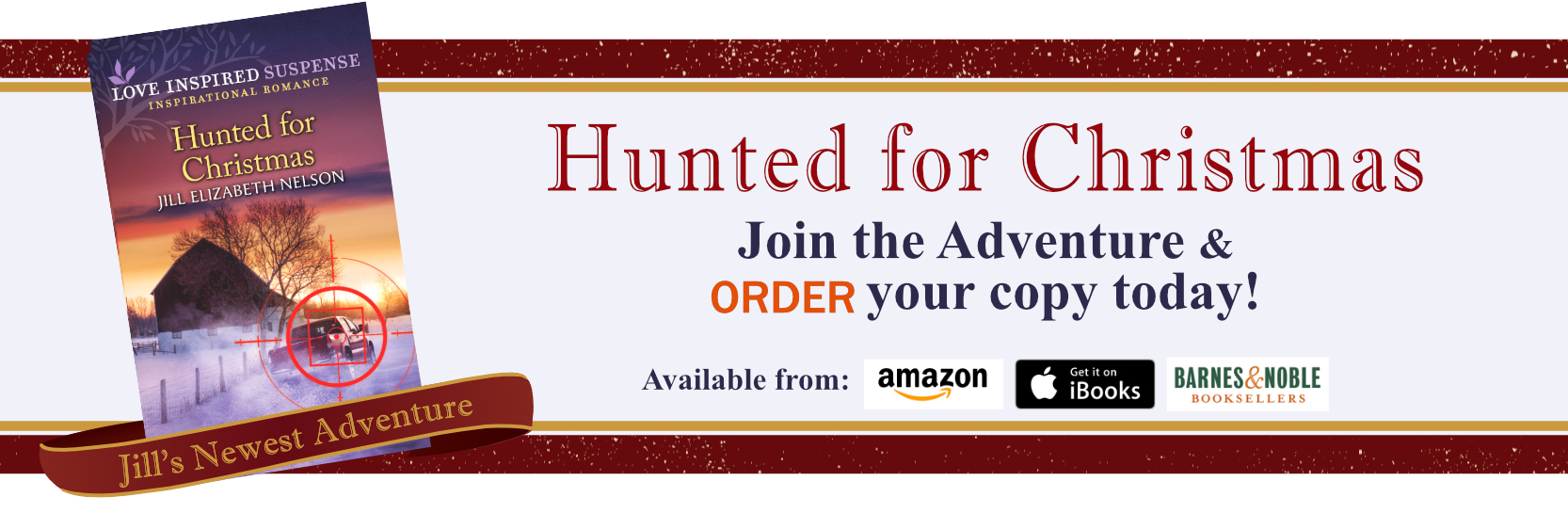 Read about Jill Elizabeth Nelson's Newest Book, Hunted for Christmas Today!