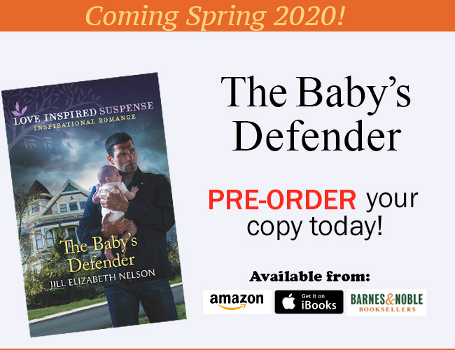 Read about Jill Elizabeth Nelson's upcoming Book, The Baby's Defender and how you can pre-order it today!